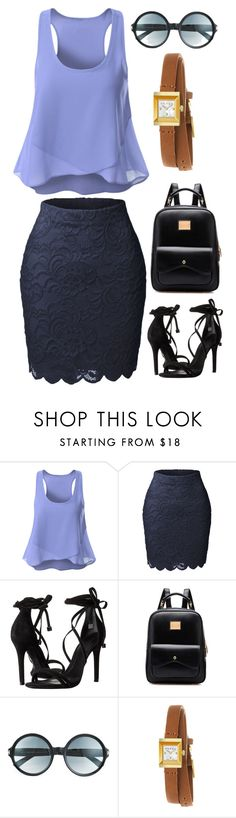"""""""Untitled #4093"""" by kaitoven on Polyvore featuring LE3NO, Schutz, Tom Ford and Gucci"""