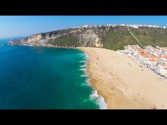 Lugar lindo que amamos ✨ Nazaré aerial view - YouTube