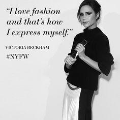 Designer and style icon Victoria Beckham #NYFW