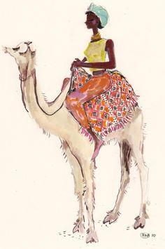 Happy Menocal / Girl riding camel