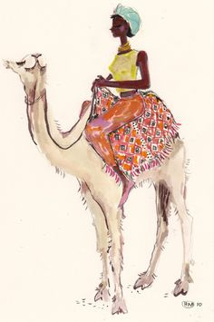 Happy Menocal / Girl riding camel