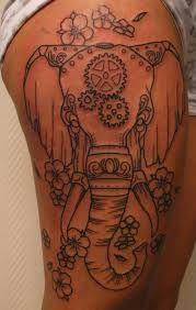 steampunk elephant on thigh >>>>>> ♥♥♥♥