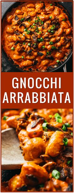 gnocchi arrabbiata, arrabiatta, bacon, tomatoes, pasta, dinner, recipe, easy, spicy, pomodoro, pasta sauce, creamy thick sauce, italian via @savory_tooth
