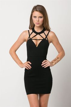 Sexy Black Party Dress with Cutouts – Fashion HotBox