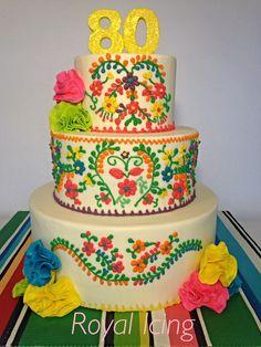 Mexican fiesta birthday cake