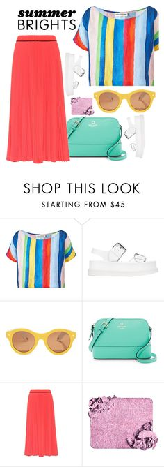 """""""Bright Bold Stripes for Summer"""" by linlizzy ❤ liked on Polyvore featuring STELLA McCARTNEY, Lucy Folk, Kate Spade, Marc Jacobs, Summer, bold, colorful and bright"""