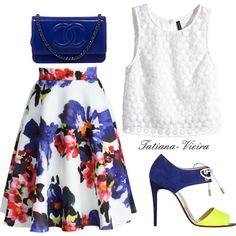 054 by tatiana-vieira on Polyvore featuring moda, H&M, Chicwish, Christian Louboutin and Chanel