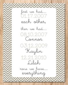 First We Had Each Other Now We Have Everything Wall Print - Printable JPEG File- Family Art