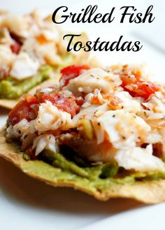 Grilled Fish Tostadas || 1 red, 1 yellow, 1 blue, 1/2 green?