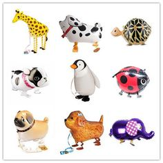Animal Kids Walking Foil Pet Balloon Helium Children Party Birthday Decor New #Unbranded #Birthday