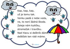Počasí básnička Water Cycle, Bude, Montessori, Preschool, Parenting, Classroom, Education, Comics, Learning
