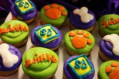 Scooby doo birthday cup cakes
