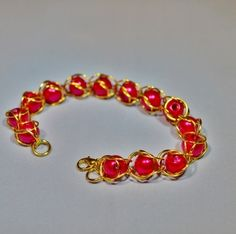 Red Chainmaille Bracelet
