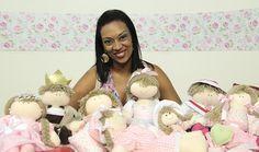 Curso online de Bonecas de pano para quarto de bebê - Tatiane Delphino