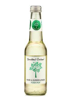 Breckland Orchard Posh Pop - Pear & Elderflower. Farm Shop, Beverages, Drinks, Elderflower, Pear, Label, Bottle, Food, Drinking