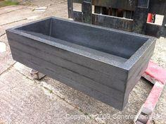 Polished concrete bath tub