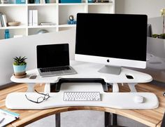 Configure your workstation to any position throughout the day with the VARIDESK Cube Corner Height Adjustable Desk.