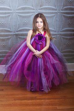 20% OFF with code SAVEME20 Flower Girl Tutu Dress in Purple Love. $95.00, via Etsy.