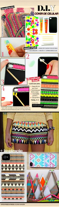 DIY: ethnic-inspired iphone case