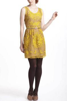 Intricate richness... not sure about those dark leggings though.    Honeycomb Lace Dress - Anthropologie.com