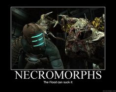 Dead Space Necromorphs. Lol, for real! The flood ain't shit, Master Chief.