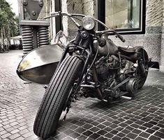 harley-Davidson with sidecar