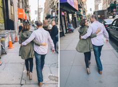 NYC Engagement Session captured by NYC  wedding photographer Ben Lau Photography.