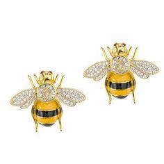 I love/hate bees! Cute earrings.