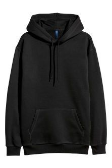 Top in sweatshirt fabric with a lined drawstring hood with a wrapover front. Long sleeves, a kangaroo pocket and ribbing at the cuffs and hem. Cute Lazy Outfits, Edgy Outfits, Fashion Outfits, Mens Fashion, Fashion Sites, Hoodie Sweatshirts, Sweater Hoodie, Hoody, Trendy Hoodies