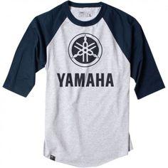 Factory Effex Official Yamaha Mens Three Quarter Sleeve Baseball T-Shir