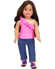 18 Inch Doll Sneakers in Suede Purple Fits  For American Girl Dolls