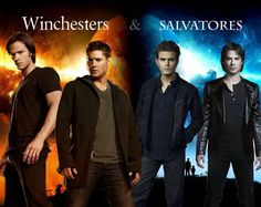 Winchester brothers from Supernatural versus the Salvatores from The Vampire Diaries
