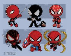 Iron Man, Thor, Jeff Goldblum, discover the evolution of pop culture heroes by Jeff Victor - - Marvel Avengers, Ms Marvel, Chibi Marvel, Marvel Heroes, Captain Marvel, Iconic Characters, Marvel Characters, Art Spiderman, Chibi Spiderman