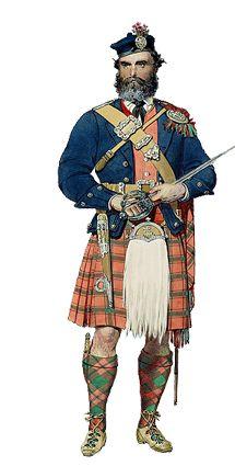 Tartan figures/ The Scottish Tartans - 16.9KB