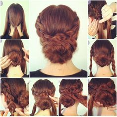 How to Make Hot Crossed Bun Updo Hairstyle | www.FabArtDIY.com
