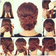 How to Make Hot Crossed Bun Updo Hairstyle   www.FabArtDIY.com