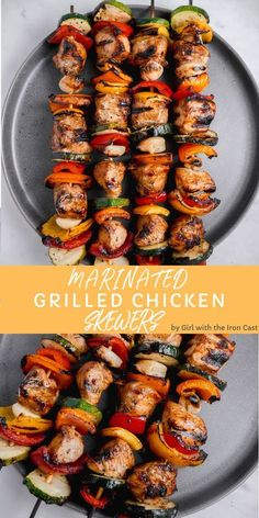 Best Grilled Chicken Marinade Grilled Chicken Skewers with Go-To Marinade and delicious vegetables. Perfect for a BBQ cookoutThe Best Grilled Chicken Marinade Grilled Chicken Skewers with Go-To Marinade and delicious vegetables. Perfect for a BBQ cookout Chicken Skewers Marinade, Best Grilled Chicken Marinade, Marinated Grilled Chicken, Chicken Marinade Recipes, Chicken Marinades, Grilling Chicken, Bbq Skewers, Grilled Recipes, Chicken Spiedini Recipe Baked