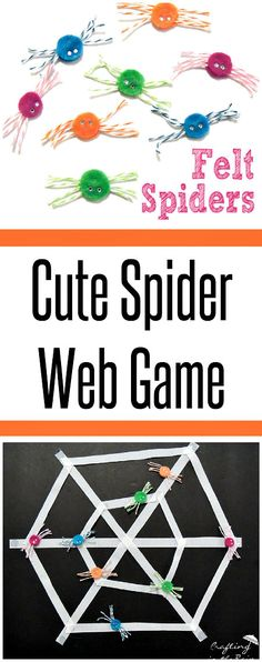 It's time to start thinking about Halloween fun! This is the perfect game for a Halloween party, or even at a SpiderMan party. Kindergarten Halloween Party, Halloween Class Party, Halloween Games, Holidays Halloween, Halloween Kids, Halloween Crafts, Halloween Decorations, Spider Web Game, Spider Webs