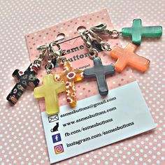 Easter gift bunny stitch markers gift for knitter knitting cross stitch markers crosses crocheters stitch markers christian stitch markers gift for a crocheter crochet gift negle Image collections