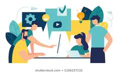 vector illustration flat style businessmen discuss social network news social networks chat dialogue speech bubbles new projects New Social Network, Best Speakers, Flaws And All, Strong Relationship, Relationships, Feelings And Emotions, Effective Communication, Simple Words, Illustrations