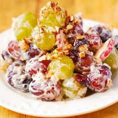 Creamy Vanilla Grape & Apple Salad - Julia's Album