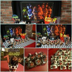 Five nights at freddy's party ideas Fnaf, 11th Birthday, 6th Birthday Parties, Freddy S, Five Nights At Freddy's, Sleepover, Party Ideas, Crafts, Manualidades