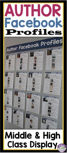 Impress your students with this ready-to-post bulletin board display of Facebook profiles belonging to the most famous English authors of all time. (Presto Plans)