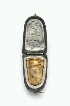 Skilled workmanship from days gone by..18th Century gold thimble and case made in Oxford England .