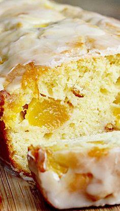 Peach Cake with Honey Cognac Icing Recipe