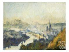 St. Catherine's Mountain, Rouen Premium Giclee Print by Eugène Boudin at Art.com