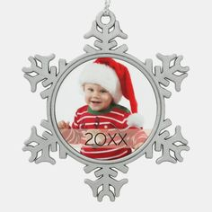 Custom Photo Year Ornament Photo Christmas Ornaments, Baby Ornaments, Christmas Photos, Christmas Ideas, Christmas Holiday, Christmas Decorations, Ideas Decoracion Navidad, Holiday Cards, Christmas Cards