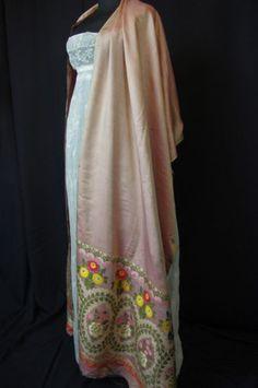 Empire part dress and Spitafields shawl c1810 | eBay