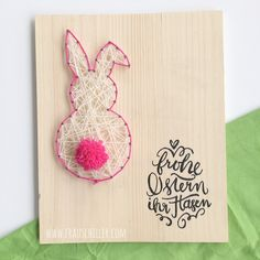 Diy Gifts For Kids, Craft Gifts, Preschool Crafts, Easter Crafts, Easter Bunny Pictures, Letter A Crafts, String Art, Crafts To Sell, Happy Easter