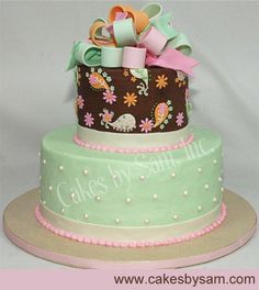 spunky baby shower/ young b-day cake